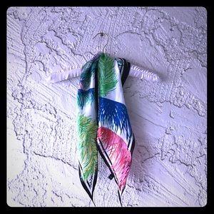 Echo Accessories - Rainbow Tropical Palms Diamond Cut Silk Scarf